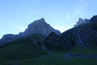 Klettern Schlossberg, Rittergold, Hinterschloss, Hinter Schloss, Spannorthütte, Engelberg