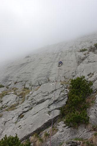 Klettern, Schafbergwand, Blues in my shoes, Wildhaus, Mehrseillängen, Alpstein, Schafberg