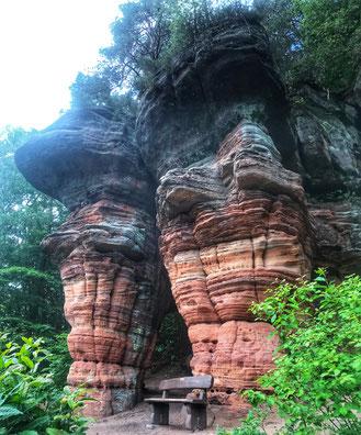 Felsenwanderweg Rodalben Pfälzer Wald Trailrunning Wandern Trekking