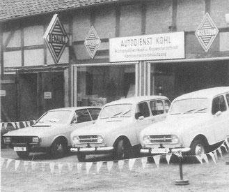 Unser erstes Gebäude des Autohauses im Jahre 1967 in Helmstedt