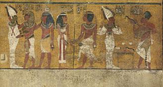 Detrás de este mural, en la zona norte de la tumba de Tutankamón, podría estar escondido el sarcófago de Nefertiti / Factum Arte ©