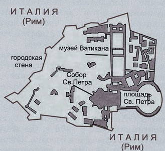 Карта государства Ватикан, картинка
