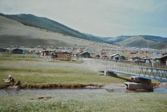 ウランバートル郊外のシャルガモリト避暑地(1986年8月)