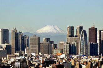 新宿高層ビルと富士山(photolibrary のらねこさんの作品より)