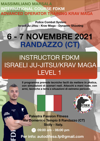 Course instructor Israeli Ju-Jitsu/Krav Maga randazzo catania
