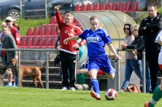 Sigrun Senska und die Frauenfußballerinnen des TSV Amicitia Viernheim wollen sich gegen Bundesligist TSG Hoffenheim möglichst gut präsentieren.