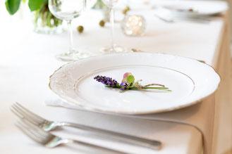46 ans de Mariage : Repas avec de la lavande