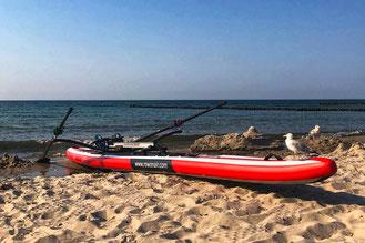 Mit ROWonAIR® neue Gewässer zum Rudern erobern, wie Coastal Rowing
