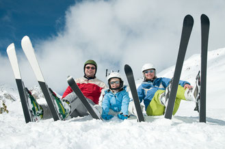 Family ski day from your luxury chalet