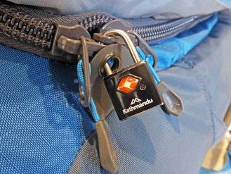 A TSA padlock