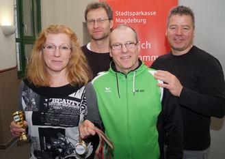 Dieses Quartett gehört zur Stadtranglisten-Kommission (von links): Sabine Björn, Andreas Ohk, Heiko Björn und Ralf Zander. Foto: Alpha-Report