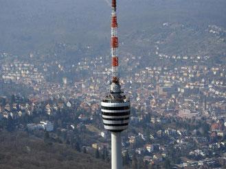 Fernsehturm in Stuttgart: Die Luft in der baden-württembergischen Landeshauptstadt gilt als besonders schadstoffbelastet. Foto: Patrick Seeger