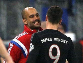 Pep Guardiola hat mit Titleverteidiger Bayern gegen Braunschweig Heimrecht. Foto: Christian Charisius