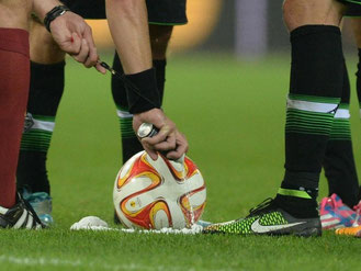 Ab Freitag wird auch in der Bundesliga gesprüht. Foto: Patrick Seeger