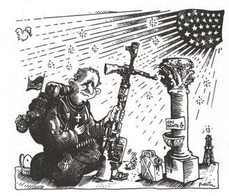 La guerre en Irak selon Plantu, 2004 (DR)