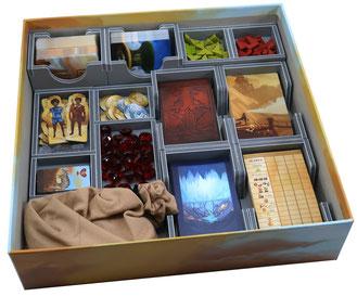 folded space insert organizer near and far foamcore