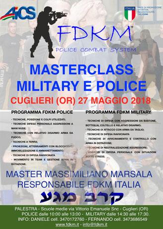 Masterclass military e police oristano maggio 2018.