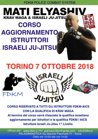 CORSO AGGIORNAMENTO FDKM TORINO ISARELI JU-JITSU