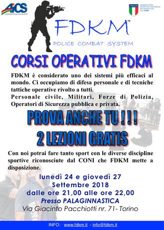 LEZIONI GRATUITE OPERATORE FDKM TORINO