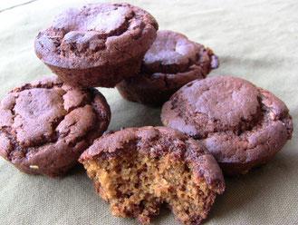 muffins au milllet-pommes caramélisées sans gluten ni lactose