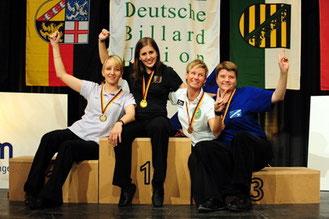 3. DM im 8-Ball der Damen Diana Stateczny(2. v. rechts)