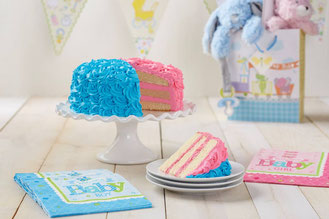 Gâteau magique - Découvrez le sexe de votre bébé avec la couleur du gâteau !
