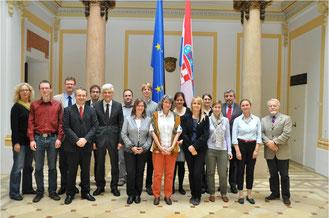 Die Exkursion im Jahr 2013 führte nach Zagreb. Dort wurde die Besuchsgruppe des Studienseminars Leer  im kroatischen Außenministerium empfangen.