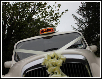 Taxi Married Roof Sign