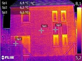 Themographie infrarouge  des appartements d'un immeuble en cours de chantier à Bruxelles - PrismEco