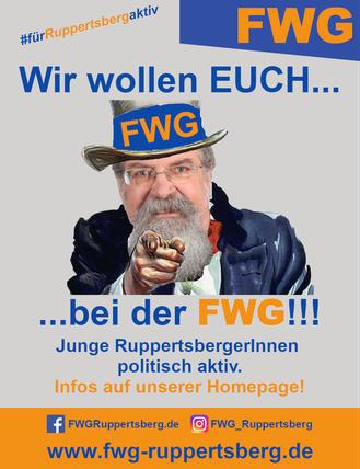 Wir wollen EUCH bei der FWG! Junge RuppertsbergerInnen politisch aktiv!