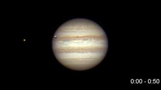 Foto: Gerald Reiser STW Neumarkt, Detail von einer Jupiterfinsternis