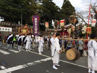 佐倉の秋祭り 宮出しの写真