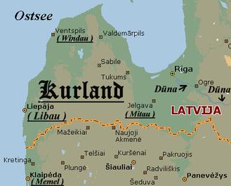 Karte von Kurland