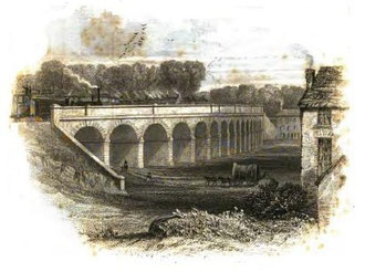 The Vauxhall Viaduct from Thomas Roscoe's Book of the Grand Junction Railway 1839, a work in the public domain