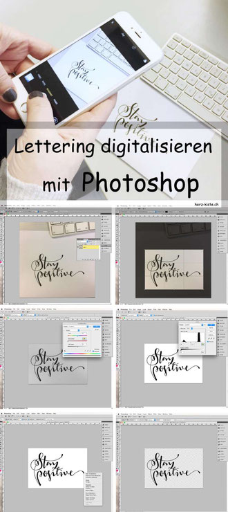 Tutorial: Lettering mit Photoshop digitalisieren