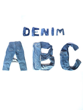 Letter Lovers somelovelyletters - Denim ABC aus Jeanshosen