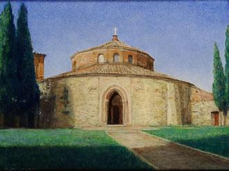 ペルージャのサンタンジェロ聖堂  油彩 15x20