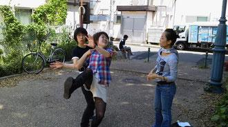稽古後 公園にて稽古! 撮影ミャンマ-