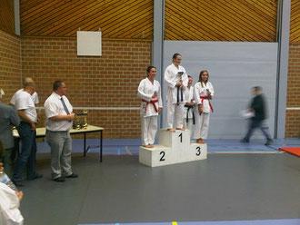 Oost Vlaams Kampioenschap Berlare 10 oktober 2011  Dempsey Van Wambeke 2de plaats junior