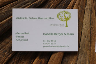 Visitenkarten Isabelle Berger Powerline Team