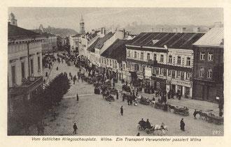Vilnius. Rotušė ir Didžioji gatvė / City hall and Didžioji street