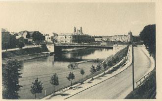 Vilnius. Upė ir Neries krantinė (1954m.) / Vilnius. The riverside of Neris (1954)