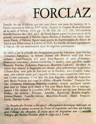 Histoire de la famille Forclaz