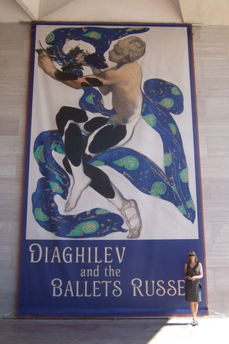 Banner of costume design for Vaslav Nijinsky as the Faun from The Afternoon of a Faun 1912