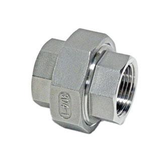 SUS304  ねじ込みユニオン  6A~100A  耐圧1.0MPa