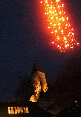 Rapperswil, Schlossturm, Nacht, Weihnacht
