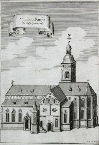 St. Johanniskirche Kupferstich um 1650