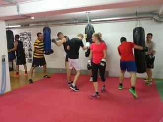 Fitnessboxen, Boxsackparcours Juni 2016 @ M's-Gym Bern Ittigen