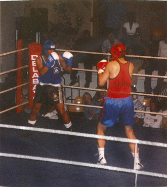 Marco Spath-M. vs. Julien Canabate (Lausanne, 2-CH.-Meister Amateurboxen, Amateurkickbox-WM) im Leichtgewicht, 1999 URSY