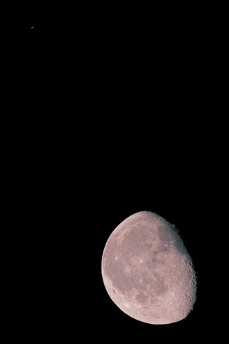 Mond bei Saturn 21.03.2014 um 3.16Uhr
